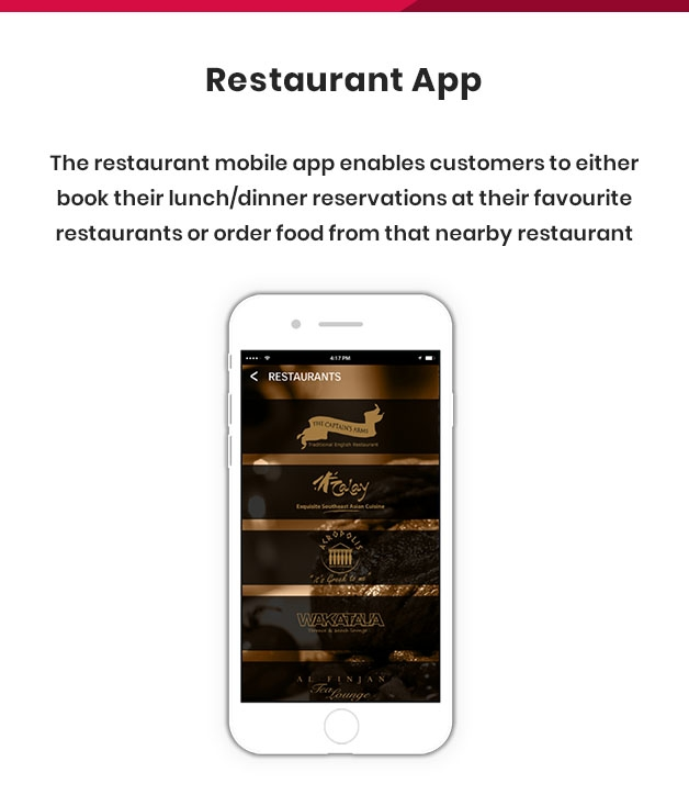 restaurant mobile apps development